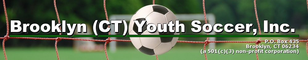 Brooklyn (CT) Youth Soccer, Inc., Soccer, Goal, Soccer Fields