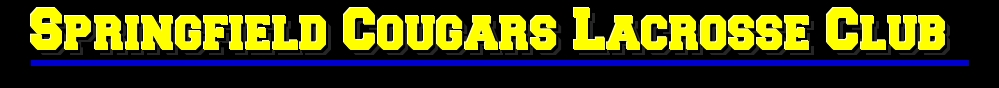 Springfield Cougars Lacrosse Club, Inc., Lacrosse, Goal, Field