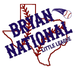 Bryan National Little League, Baseball