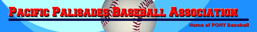 Pacific Palisades Baseball Association, Baseball, Run Home, Field