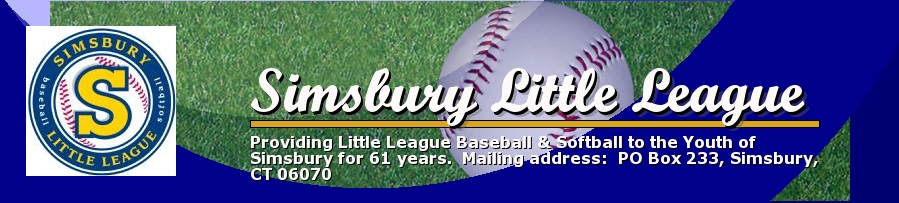 Simsbury Little League, Baseball, Run, Baseball/Softball Field