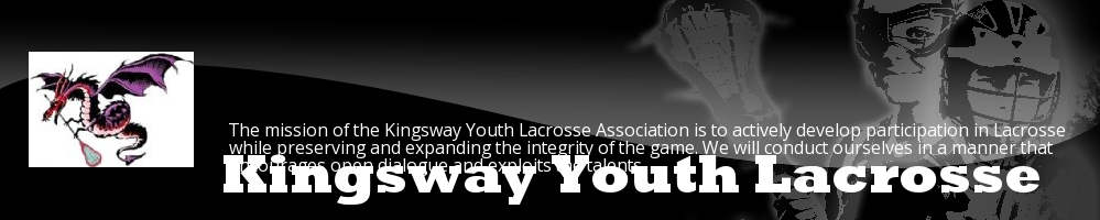 Kingsway Youth Lacrosse Association, Lacrosse, Goal, Field