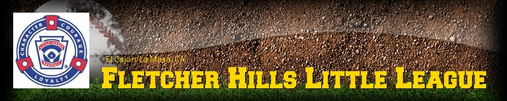 Fletcher Hills Little League, Baseball, Run, Field
