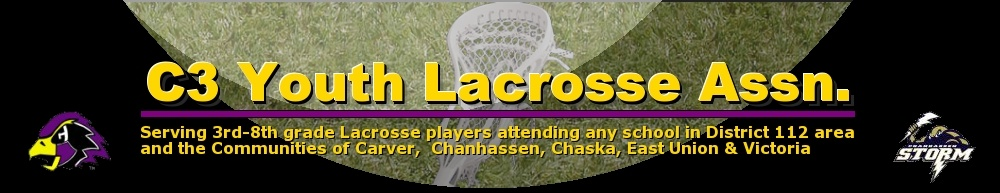 C3 Hawks Youth Lacrosse Association, Lacrosse, Goal, Field