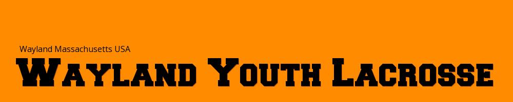 Wayland Youth Lacrosse, Lacrosse, Goal, Field