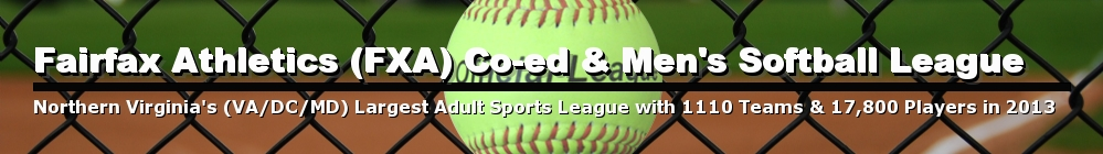 FXA Co-ed & Mens Adult Softball League, Softball, Runs, Field