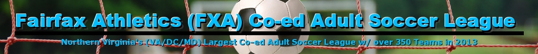 Fairfax Athletics (FXA) Co-ed Adult Soccer League, Soccer, Goal, Field