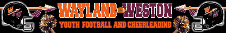 Wayland-Weston Youth Football & Cheerleading, Football, Points, Location