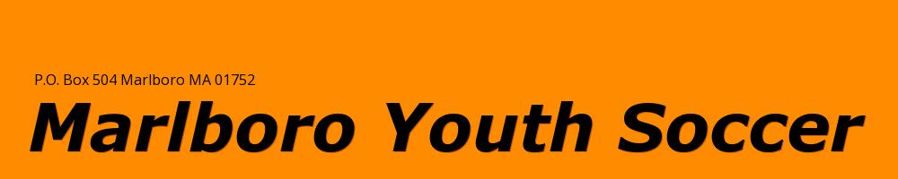 Marlboro Youth Soccer (MYS), Soccer, Goal, Field