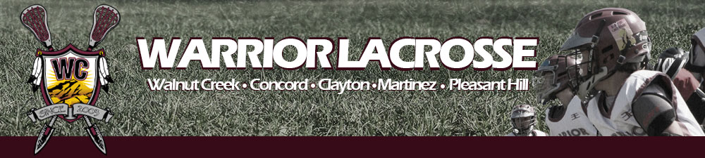Warrior Lacrosse ClubClayton*Concord*Martinez*Pleasant Hill*Walnut Creek, Lacrosse, Goal, Field