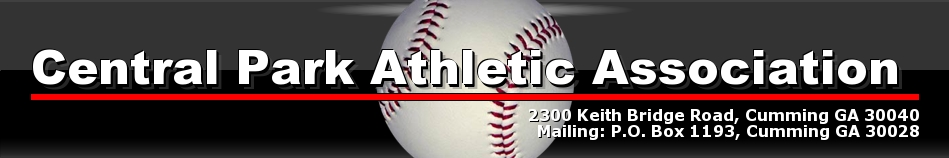 Central Park Athletic Association, Central Park Baseball and Softball, CPAA - FCPRD, Central Park Forsyth County GA