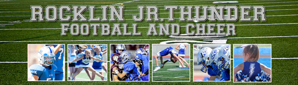 Rocklin Jr Thunder Football & Cheer, Football, Touchdown, Field