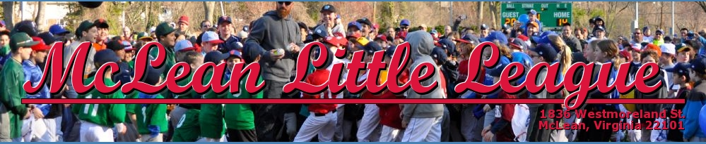 McLean Little League, Baseball, Run, Field