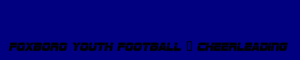 Foxboro Youth Football & Cheerleading, Football, Goal, Field
