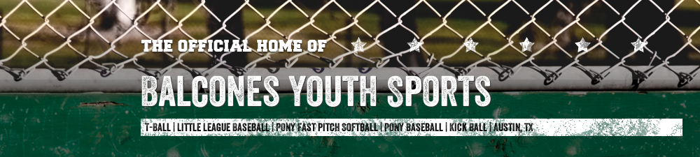 Balcones Youth Sports, Baseball/Softball, Run, Field