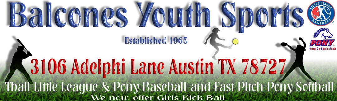 Balcones Youth Sports, Baseball/Softball, Run, Field