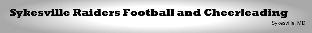 Sykesville Raiders Football and Cheerleading, Football/Cheerleading, , Field