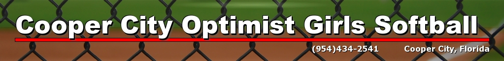 Cooper City Optimist Softball, Softball, Run, Field