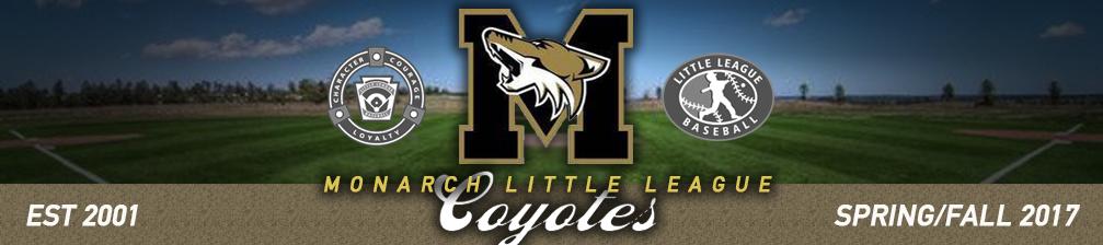 Monarch Little League, Baseball, Run, Field