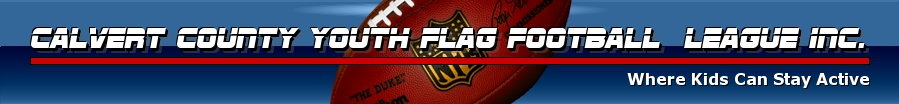 Calvert County Youth Flag Football League                    Inc., Flag, Goal, Field