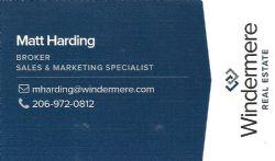 Matt Harding, Windermere Real Estate