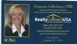 Suzanne Lebohner- Reality Connect USA- 631-870-7247