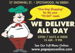 Papa Joe's to go Pizza