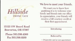 Hillside Dental Care