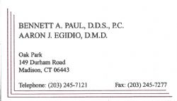 Bennett A. Paul DDS & Aaron J. Egidio DMD PC