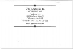 Guy Angiuoni, Jr - Attorney At Law