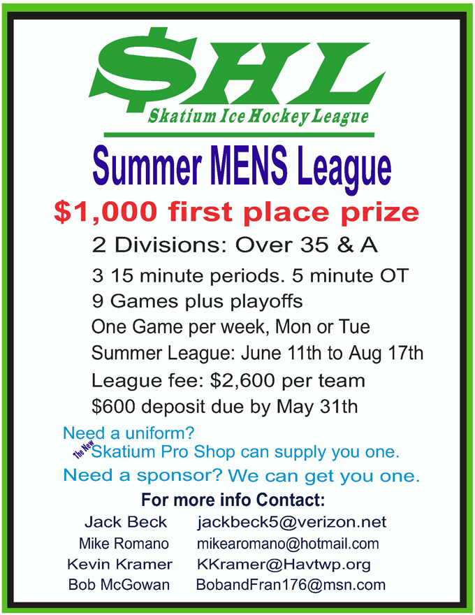 Summer Youth Hockey League