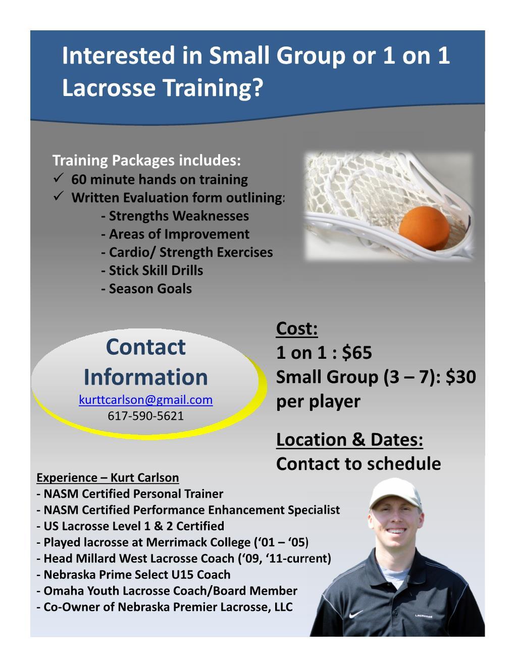 kurt s private training omaha lacrosse club