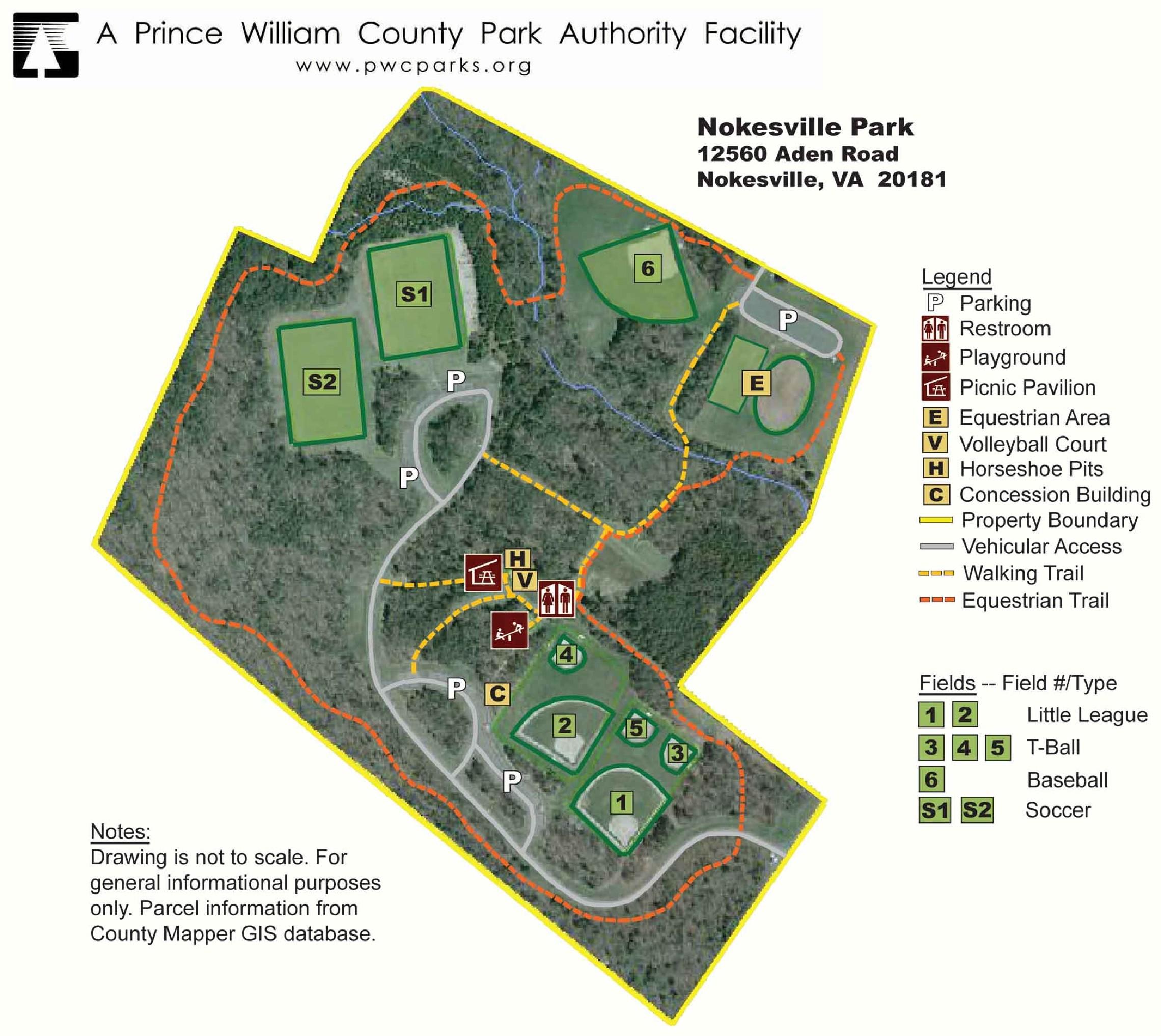 Field Nokesville Park Info | Brentsville District Youth Baseball