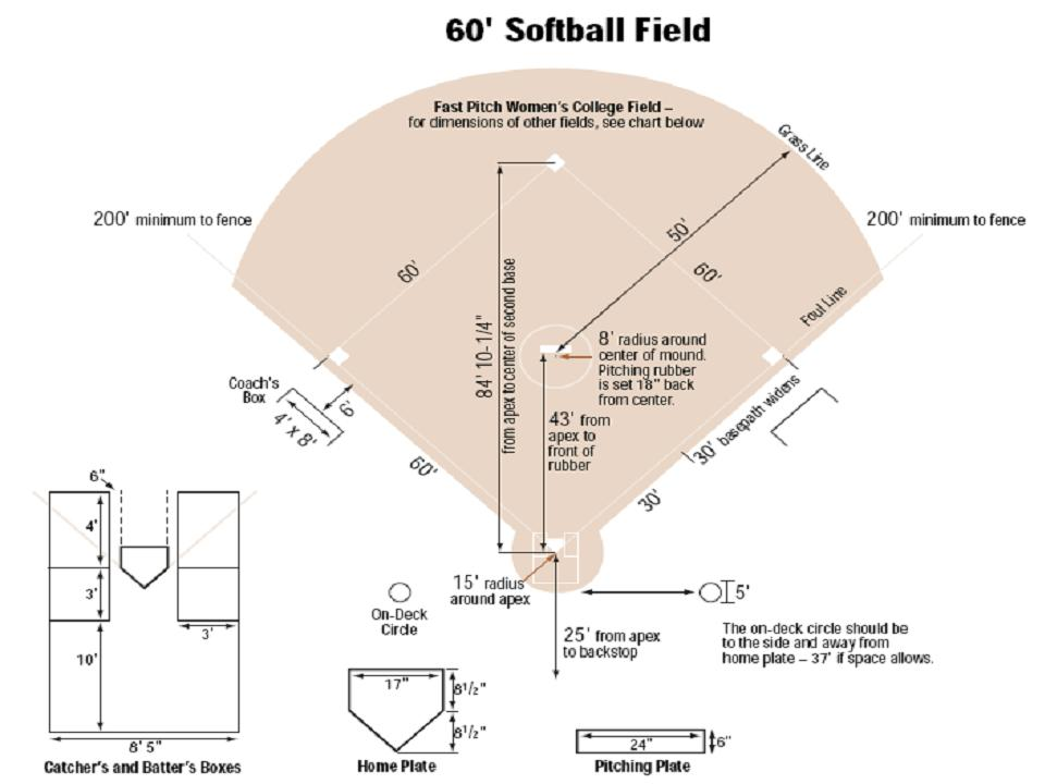 t-ball field dimensions