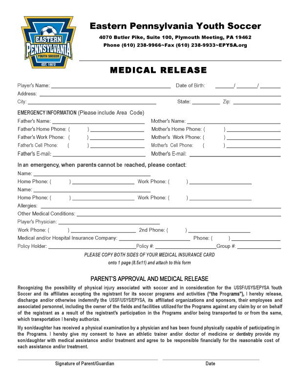 Medical Release Form – Medical Release Form