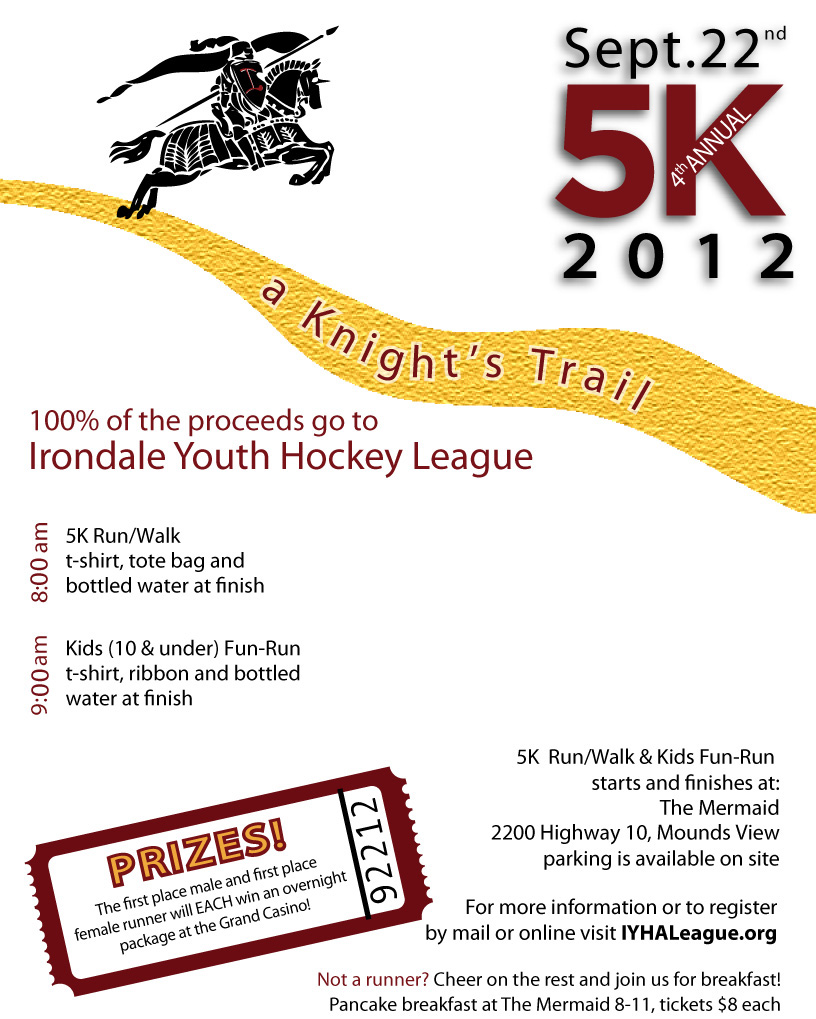 a knight s trail 5k irondale youth hockey association