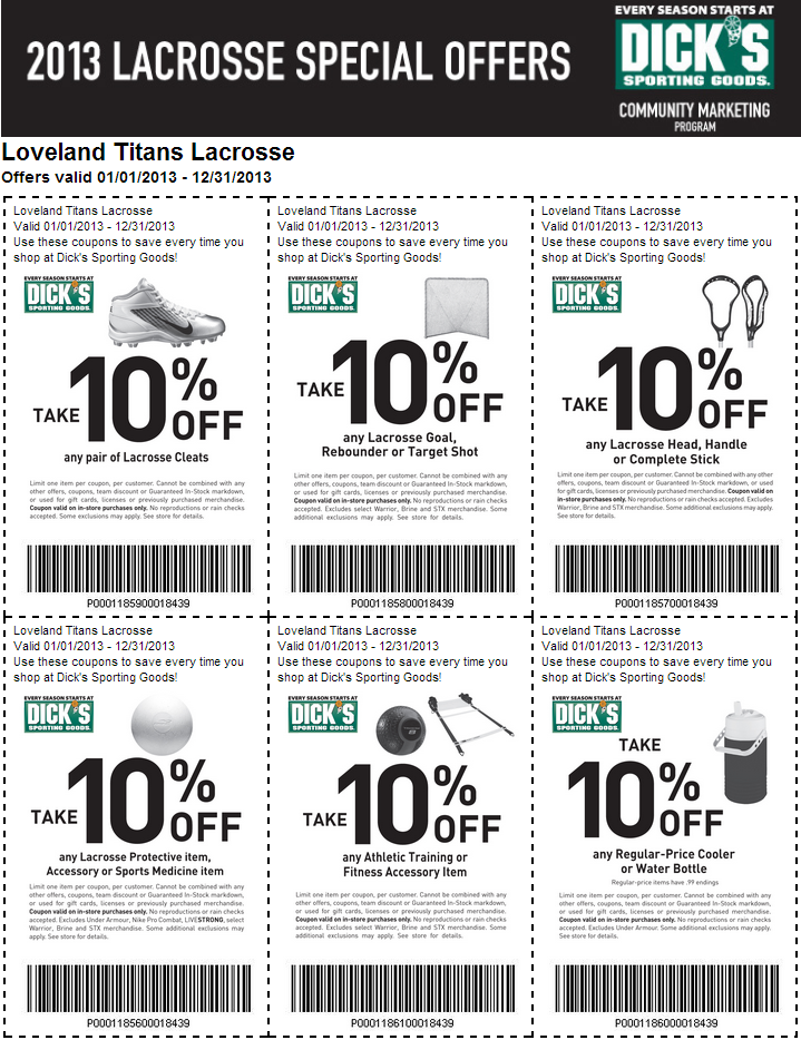 Coupon codes for dicks sporting goods