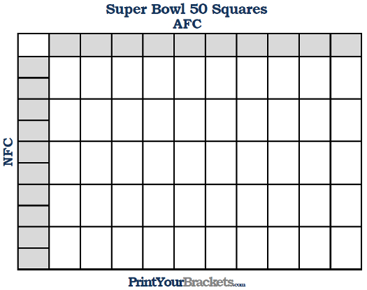Super Bowl Squares | Buffalo Sabres Sled Hockey