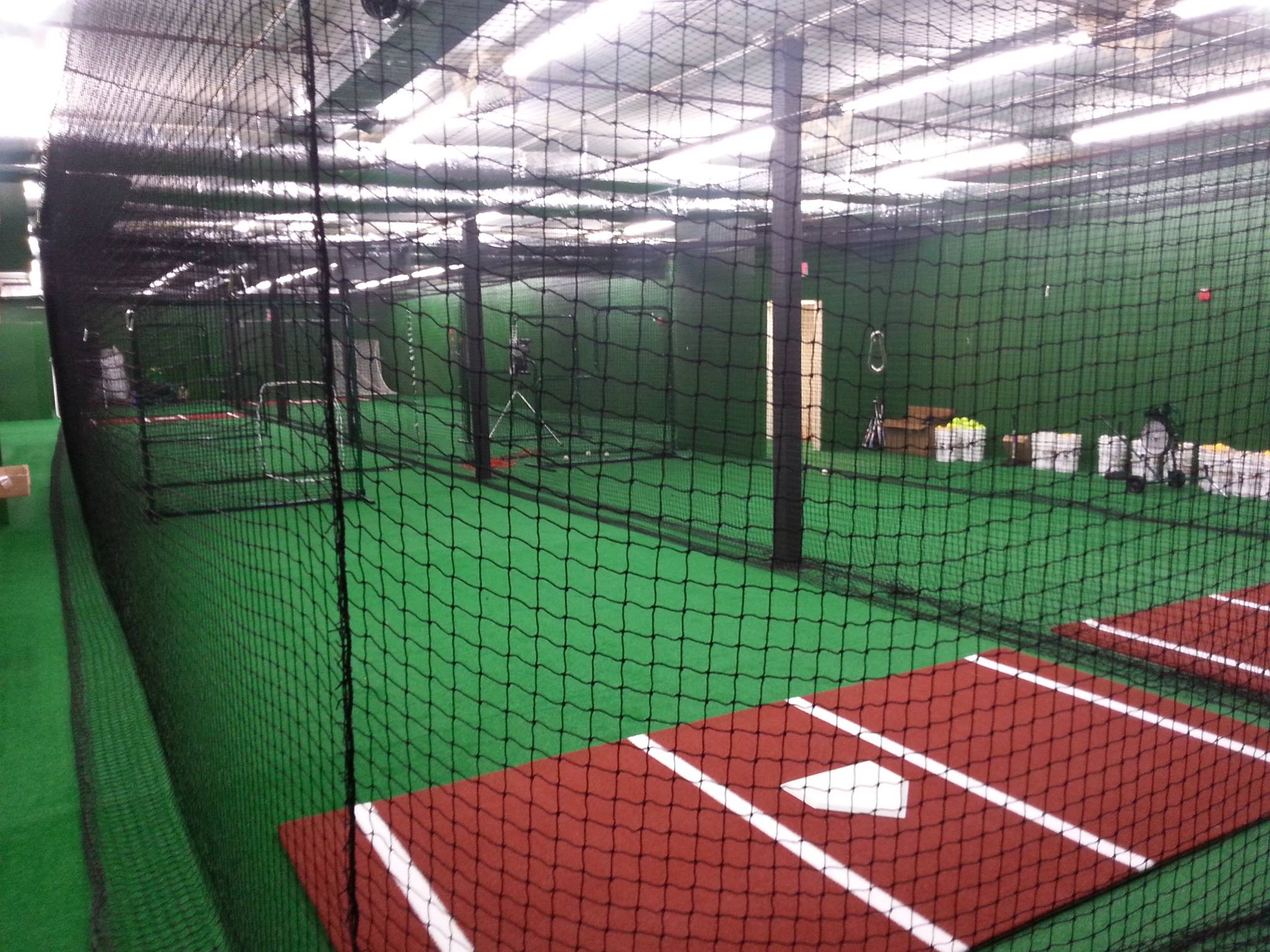 Batting cage description tilton sports center for Design indoor baseball facility