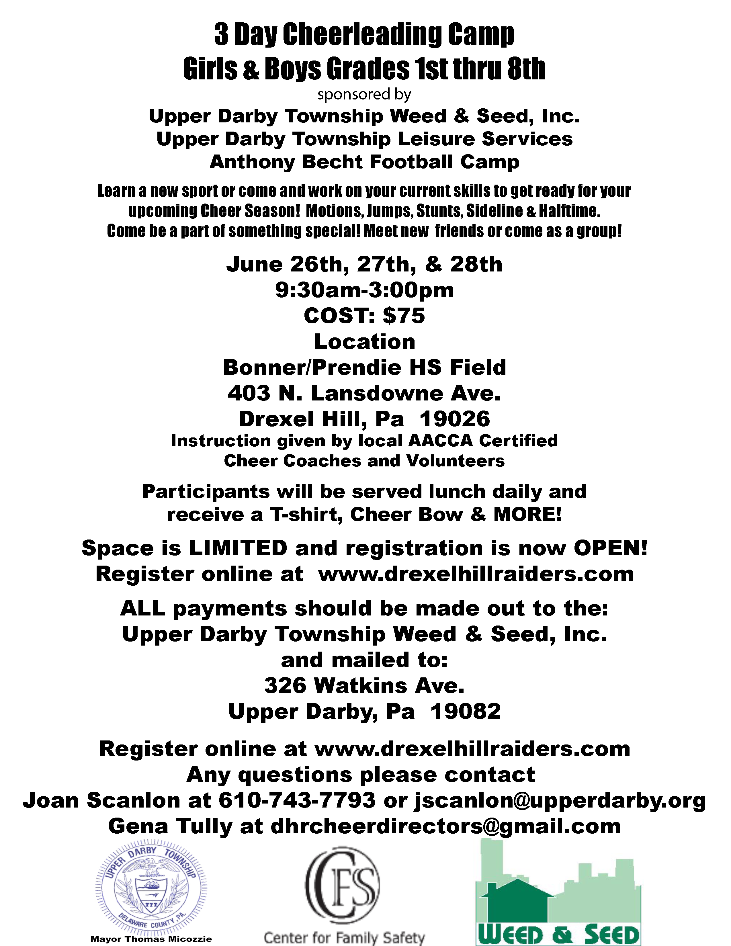 3 day ud twp weed seed camp drexel hill raiders 1betcityfo Choice Image