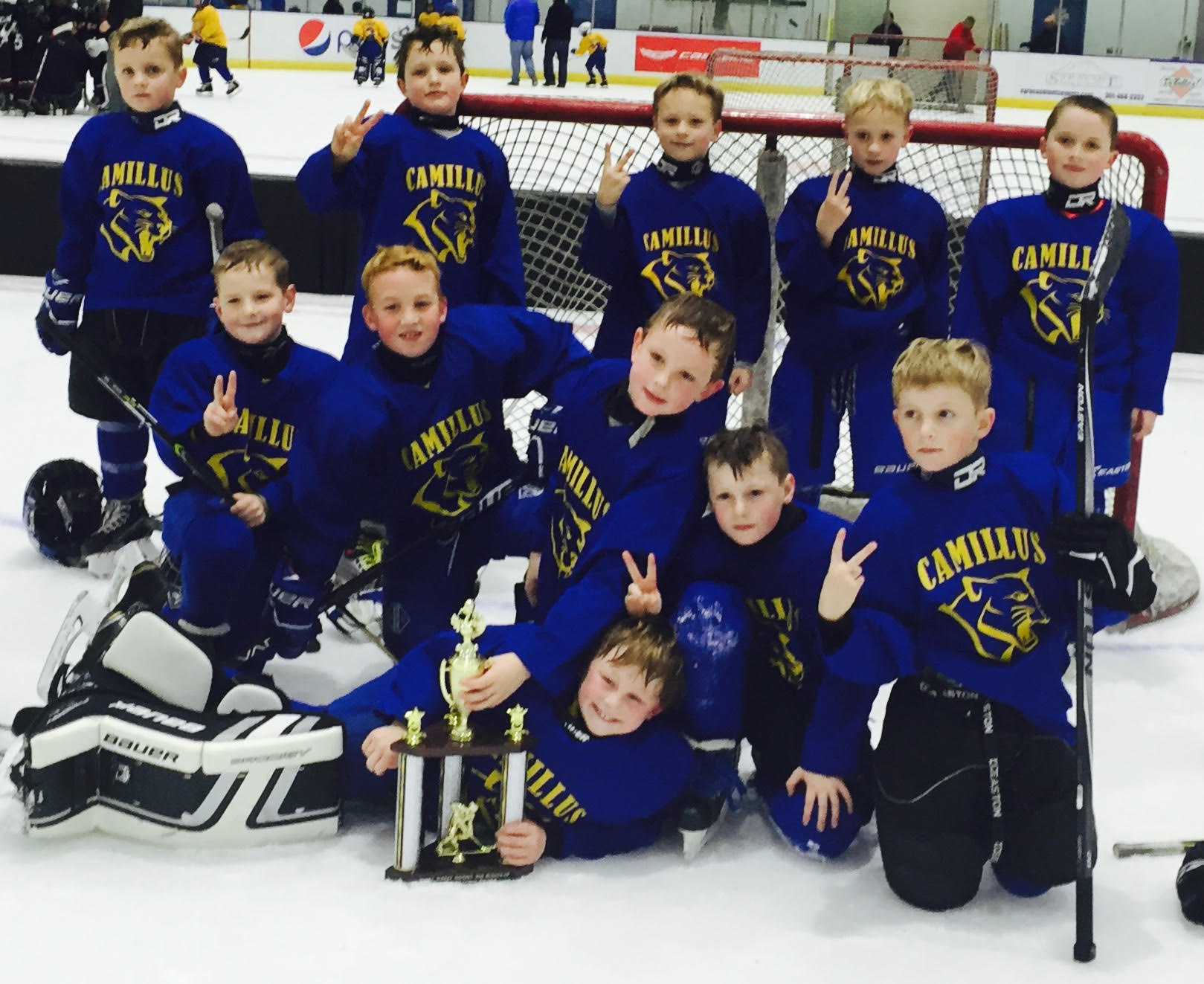 turkey tourney valley youth hockey association camillus cougars red