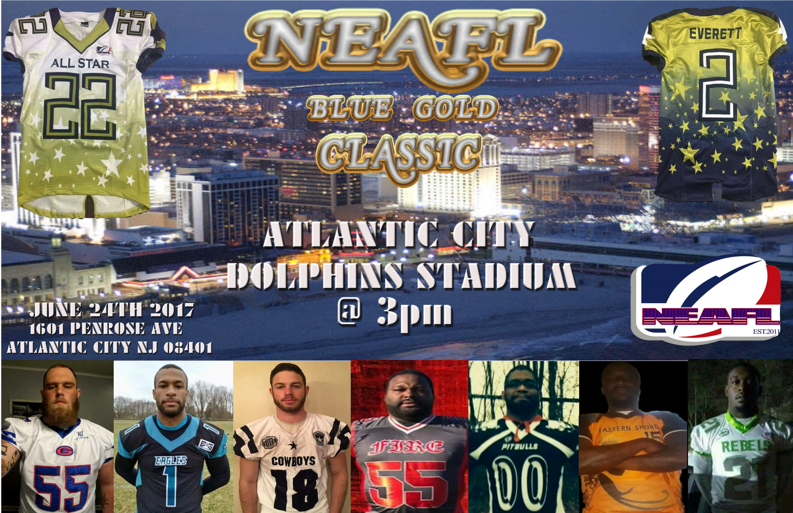 bbdcbfe91 Jordan Griffin RB of the The NEAFL BLUE GOLD CLASSIC was a succesful event  in Atlantic City