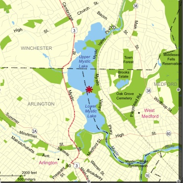 Directions to Mystic Valley Parkway Entrance of the Medford Boat Club