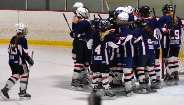 The King Philip Walpole Youth Hockey U14 Red team won the District 3 championship
