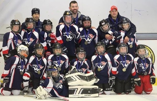 The King Philip Walpole Youth Hockey Squirt B team won the 2016 Falmouth Youth Hockey Fall Classic hockey tournament.