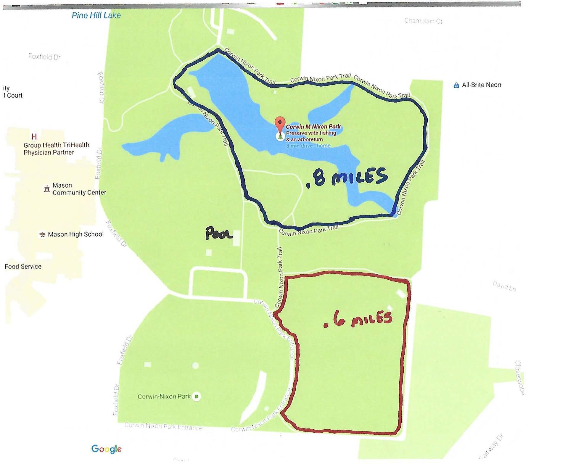 corwin nixon mileage map mason girls lacrosse