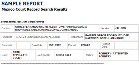 Mexico Criminal Records Search | National Defender