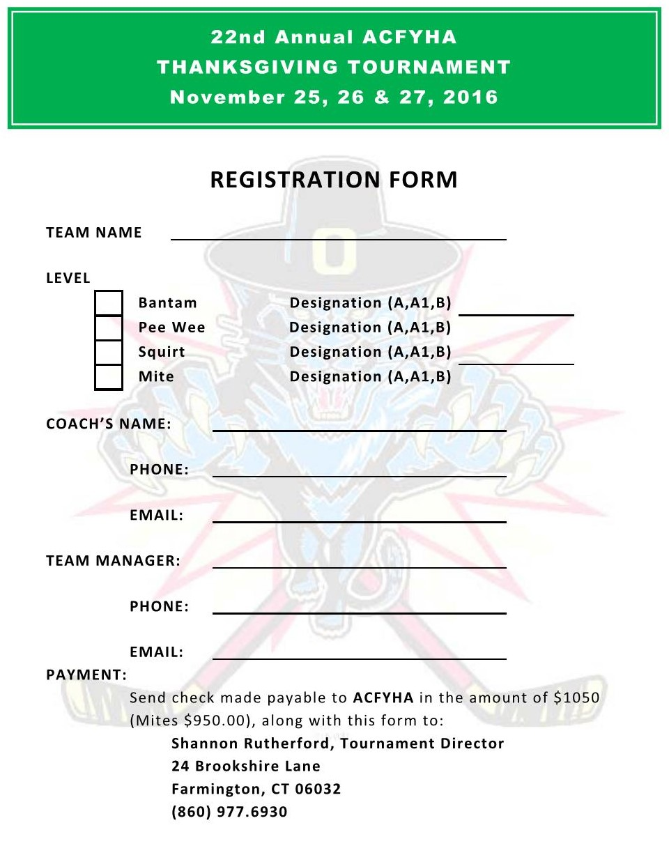 2016 registration form avon canton farmington youth hockey pdf of registration form can be downloaded from the 2016 thanksgiving tournament folder on the documents page of the acfyha web site sciox Gallery