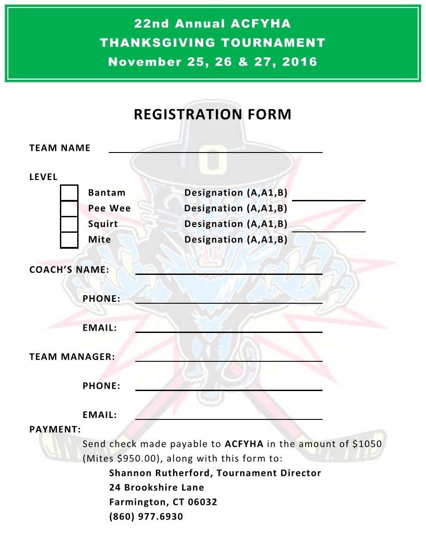 2016 Registration Form – Registration Form