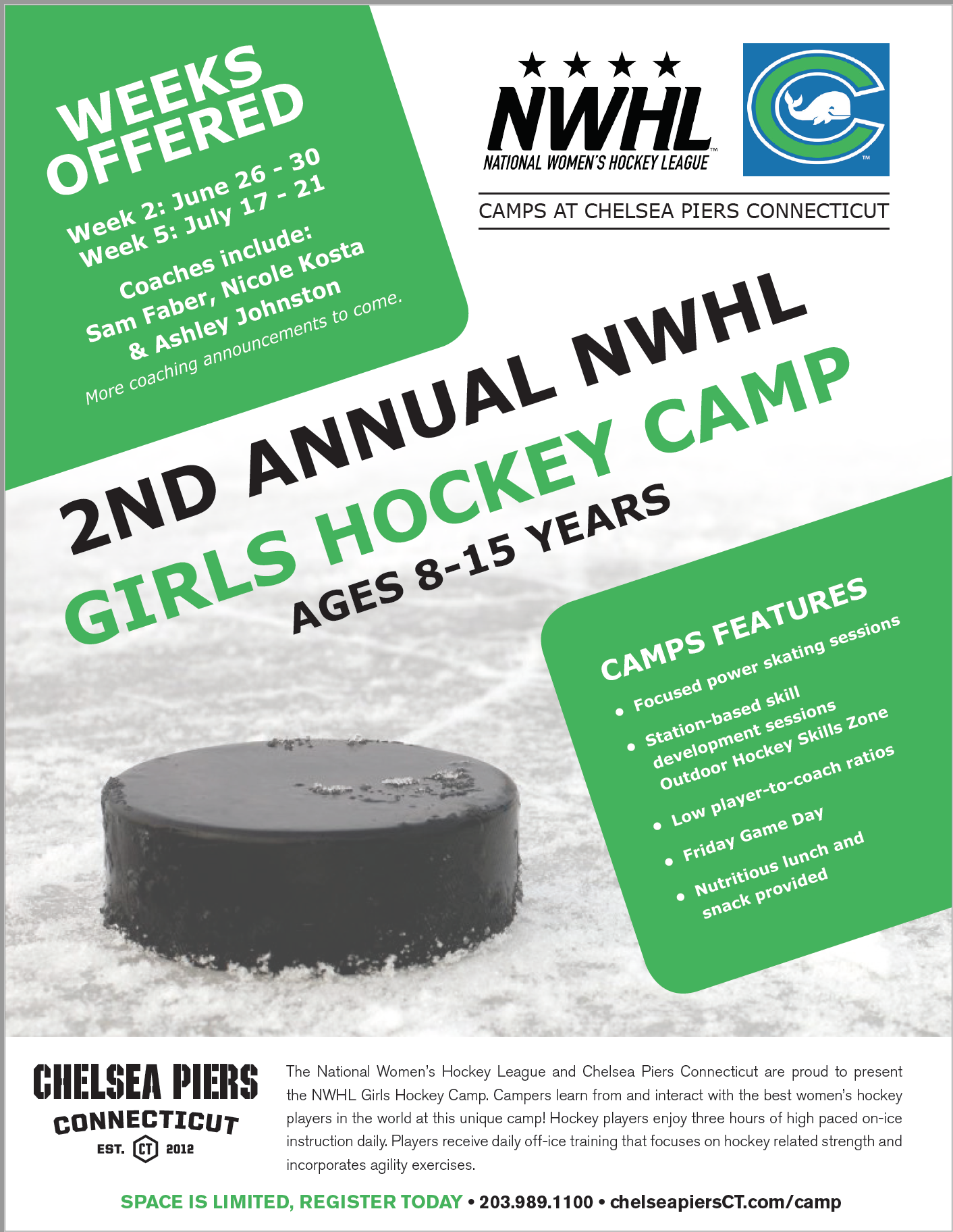 nwhl ct whale summer camp connecticut girls hockey league inc